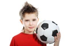 Boy with a ball Stock Photos