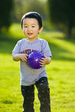 Boy with ball stock photos