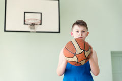 A boy with the ball Royalty Free Stock Image