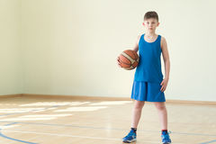 A boy with the ball Stock Photography