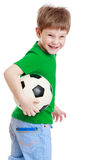 The boy with the ball Royalty Free Stock Image
