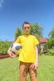 Boy with ball Stock Photos