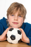 Boy with ball Stock Images