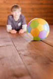 Boy with a ball Stock Photography