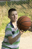 The boy and the ball Royalty Free Stock Photo