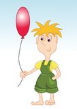 Boy with balloon. The boy holds a balloon Royalty Free Stock Image