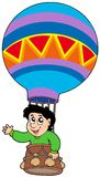 Boy in balloon. Illustration Royalty Free Stock Image