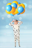The boy and balloons Stock Photography
