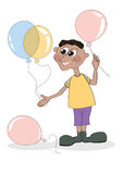The boy with balloons Royalty Free Stock Image