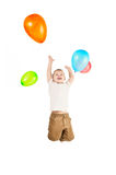 A boy and the balloons Royalty Free Stock Photos