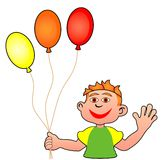 Boy with balloons Royalty Free Stock Image