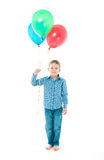 The boy with balloons Stock Photos