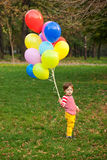 Boy with balloons Royalty Free Stock Photos