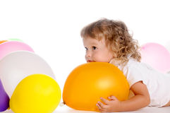 Boy With Balloons 5 Royalty Free Stock Images