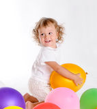 Boy With Balloons 6 Royalty Free Stock Photo