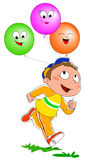 Boy with balloons vector Stock Photography