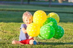 Boy with the balloons Royalty Free Stock Images