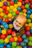 Boy with balls Royalty Free Stock Photography