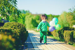 Boy with baloons Royalty Free Stock Photos