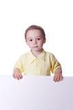 Boy with banner Stock Photos