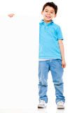 Boy with a banner Stock Images