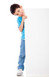 Boy with a banner Stock Image