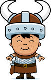 Boy Barbarian. A cartoon illustration of a boy barbarian standing and smiling Royalty Free Stock Image