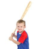 Boy with baseball bat Royalty Free Stock Photos
