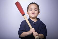 Boy with baseball bat Royalty Free Stock Photo