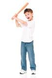 Boy with baseball bat Stock Photos