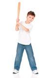 Boy with baseball bat Royalty Free Stock Photo