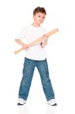 Boy with baseball bat Stock Photos
