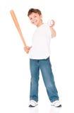 Boy with baseball bat Royalty Free Stock Photography