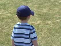 Boy With Baseball Cap Stock Photo