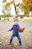 Boy with a baseball glove Stock Image