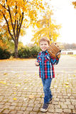 Boy with a baseball glove Royalty Free Stock Images