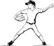Boy Baseball Pitcher Royalty Free Stock Image