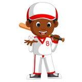 Boy baseball player Stock Image