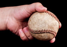 Boy with baseball Royalty Free Stock Photo