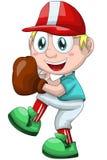 Boy baseball sport character cartoon style  illustration Stock Photo