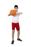 Boy baskerball player Royalty Free Stock Images