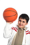 Boy with basketball Royalty Free Stock Photo