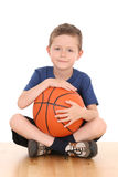 Boy with basketball Stock Image