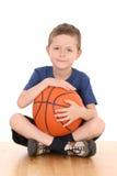Boy with basketball Stock Image
