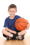 Boy with basketball Stock Photos