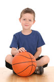 Boy with basketball Royalty Free Stock Photos