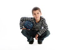 Boy with a basketball ball Royalty Free Stock Images