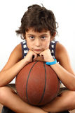 Boy with basketball ball Royalty Free Stock Photos