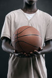 Boy with Basketball Stock Images