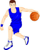 Boy basketball player Stock Photo